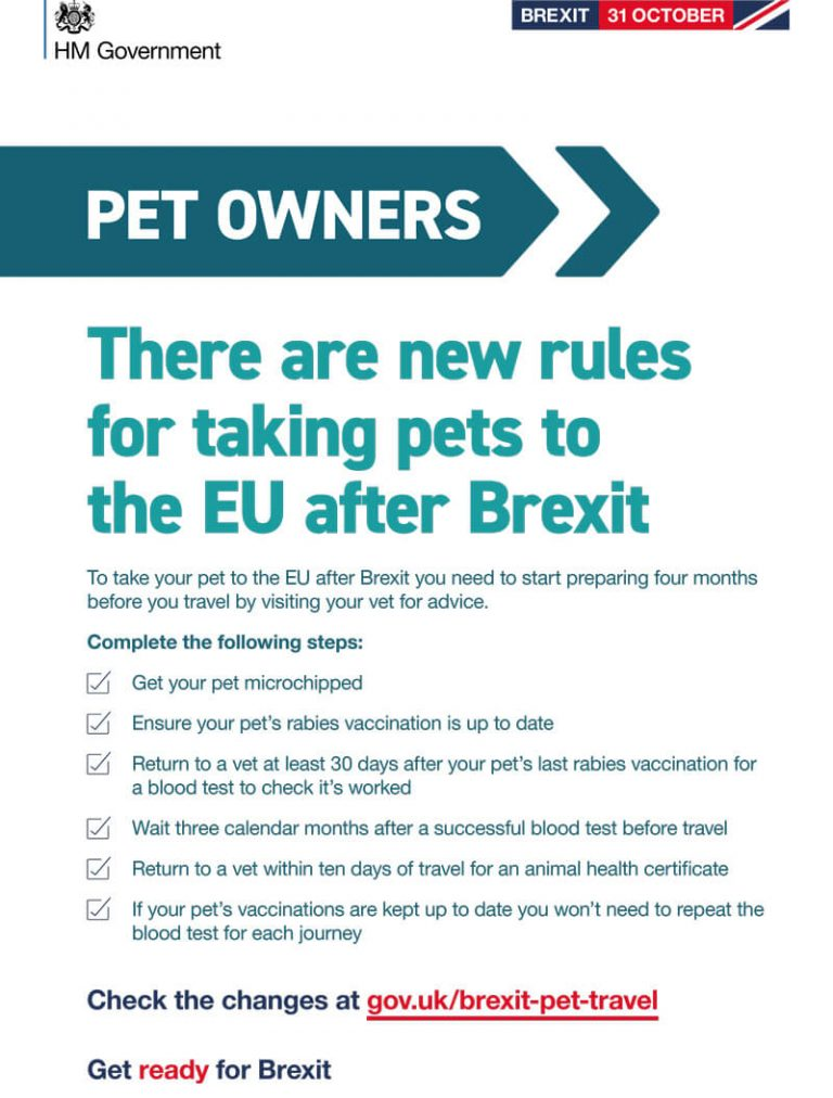 Pet Owners - Travelling after Brexit